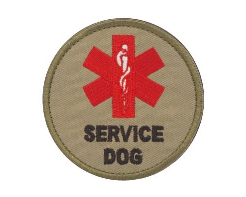 Militaire patch Service Dog bruin met klittenband
