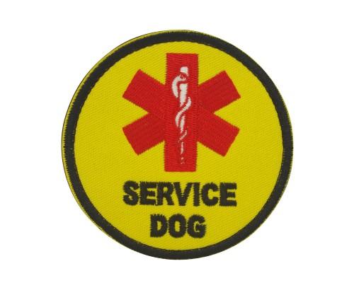 Militaire patch Service Dog geel met velcro