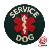 Service dog Medical geborduurde K9 hond patch met velcro