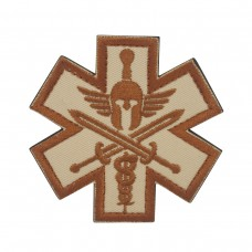 Militaire patch Bruin Molon Labe Star of Life met velcro