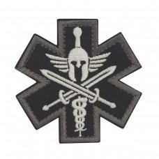 Militaire patch Black Molon Labe Star of Life met velcro
