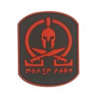 Molon Labe rode PVC Patch met klittenband