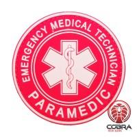 Paramedic Emergency Medical Technician red PVC Patch met klittenband