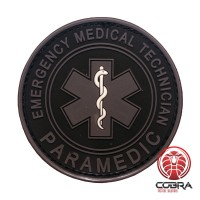 Paramedic Emergency Medical Technician gray PVC Patch met klittenband