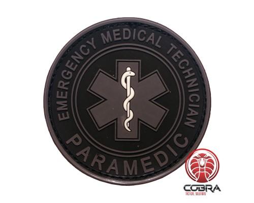 Paramedic Emergency Medical Technician gray PVC Patch met klittenband