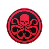 Marvel Avengers Hydra rode PVC movie cosplay Patch met klittenband