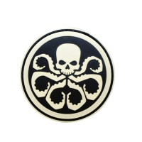 Marvel Avengers Hydra zwarte PVC movie cosplay Patch met klittenband
