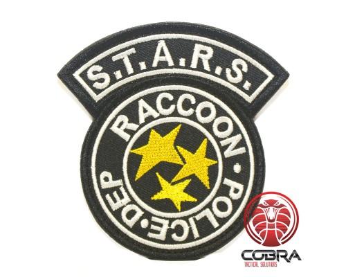 Resident Evil S.T.A.R.S Racoon Police DEP geborduurde zwarte militaire Patch met klittenband