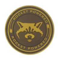 Rocket Powered Guardians of The Galaxy Bruin PVC Patch met klittenband
