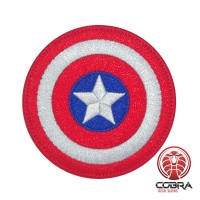 Shield Captain America Marvel Avengers geborduurde Airsoft Cosplay Patch met klittenband