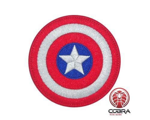 Shield Captain America Marvel Avengers geborduurde Airsoft Cosplay Patch met klittenband