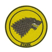 Game of Thrones Stark Geborduurde Cosplay Patch met klittenband