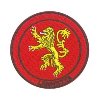 Game of Thrones Lannister Geborduurde Cosplay Patch met klittenband