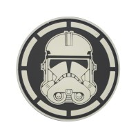 Stormtrooper Star Wars PVC Cosplay Patch Zwart met klittenband