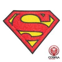 Superman film geborduurde cosplay Patch met klittenband