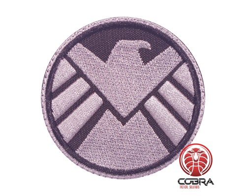 AVENGERS S.H.I.E.L.D. geborduurde grijze film patch met velcro