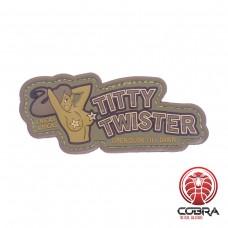 Titty Twister Open Dusk till Dawn PVC film patch met velcro groen
