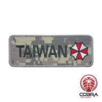 Patch Resident Evil Taiwan Cosplay Geborduurde Digital camo patch met velcro