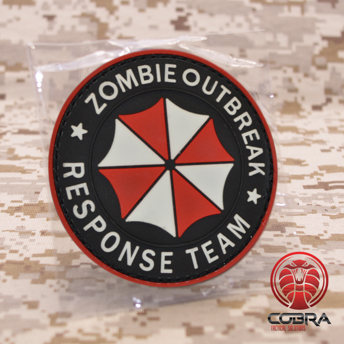 3D rubber patch Resident Evil O outbreak response VELCRO Badge Patch
