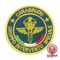 Carabinieri Gruppo Intervento Speciale Geborduurde militaire Patch met klittenband