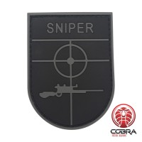 Sniper grijze militaire PVC Patch met klittenband