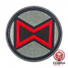 Black Widow Avengers logo Geborduurde film Patch met klittenband
