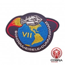 Apollo VII Schirra Eisele Cunningham Nasa geborduurde patch met velcro