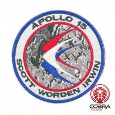 Apollo 15 Scott Worden Irwin Nasa geborduurde patch met velcro