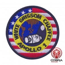 Apollo I White Grissom Chaffee Nasa geborduurde patch met velcro
