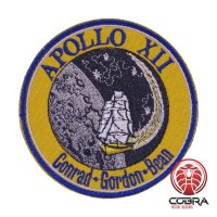 Apollo XII Conrad Gordon Bean Nasa geborduurde patch met velcro