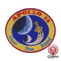 Apollo 14 Shepard Roosa Mitchell Nasa geborduurde patch met velcro