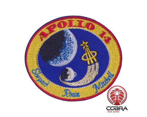 Apollo 14 Shepard Roosa Mitchell Nasa geborduurde patch met velcro