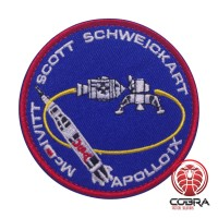 Apollo X Mc Ivitt Scott Schweickart Nasa geborduurde patch met velcro