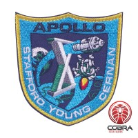 Apollo X Stafford Young Gernan Nasa geborduurde patch met velcro