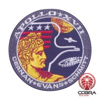 Apollo XVIII Cernan Evans Schmitt Nasa geborduurde patch met velcro