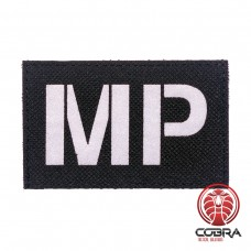 MP Military Police Fluorescent zwart Geborduurde militaire Patch met klittenband