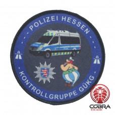 Polizei Hessen Kontrollgruppe GÜKG Politie Geborduurde Patch met klittenband