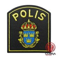 Svensk Polis Swedish Politie geborduurde patch | Strijkpatches | Military Airsoft