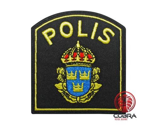 Svensk Polis Swedish Politie geborduurde patch   Strijkpatches   Military Airsoft