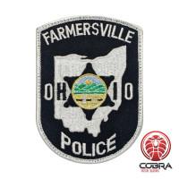 Farmersville Police Ohio geborduurde patch   Strijkpatches   Military Airsoft