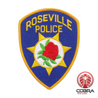 Roseville Police geborduurde patch   Strijkpatches   Military Airsoft