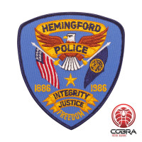 Hemingford Police geborduurde patch   Strijkpatches   Military Airsoft
