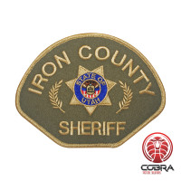 Iron County Sheriff Utah geborduurde patch   Opnaai    Military Airsoft