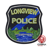 Longview Police geborduurde patch   Strijkpatches   Military Airsoft