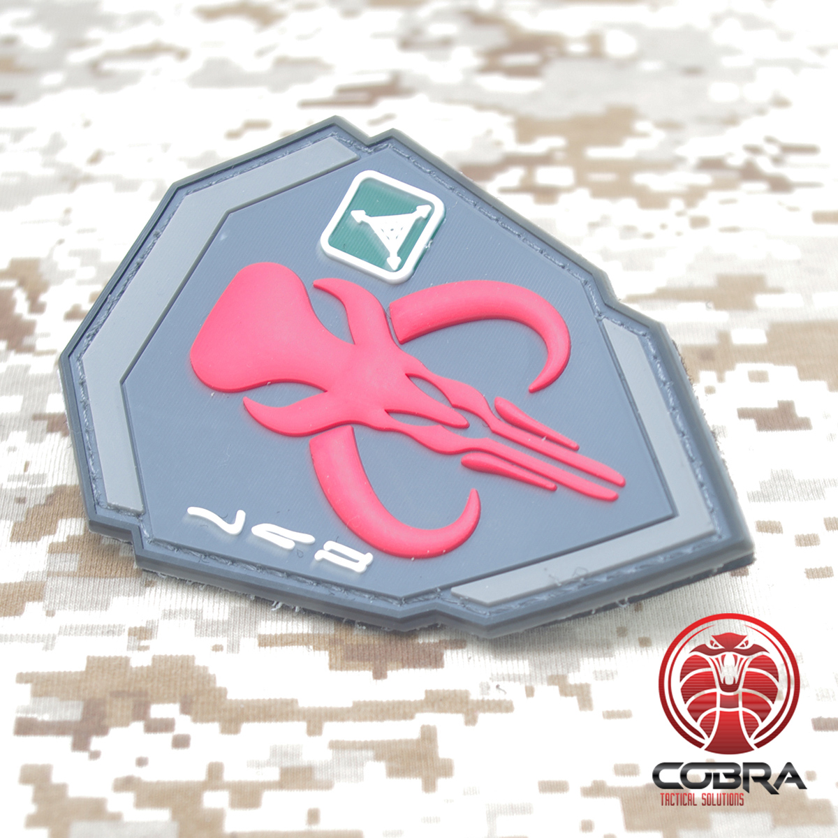 Cobra Tactical Solutions SAS beret skull 3D PVC patch red with Hook /& Loop Airsoft
