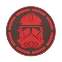 Stormtrooper Star Wars PVC Cosplay Patch Zwart Rood met klittenband
