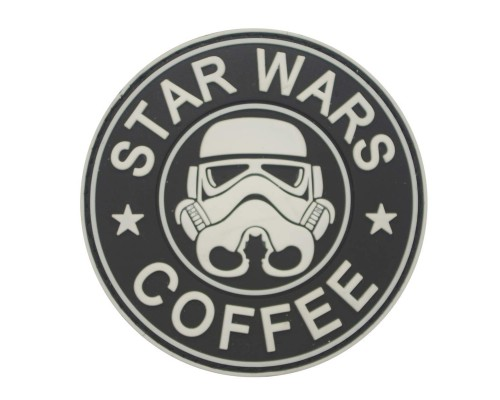 Stormtrooper Coffee Star Wars PVC Cosplay Patch met klittenband