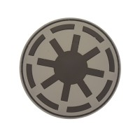 Star Wars Imperial Force Cosplay grijs PVC Patch met klittenband