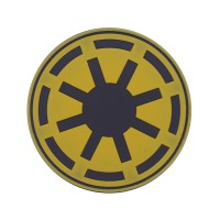 Star Wars Imperial Force Cosplay bruin PVC Patch met klittenband