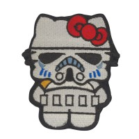 Stormtrooper Kitty Superhero and Villains Geborduurde Cosplay Patch met klittenband